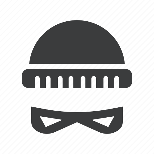 burglar, crime, disguise, ganster, hat, robber, thief icon