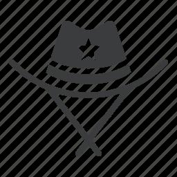 cowboy, hat, police, sheriff icon