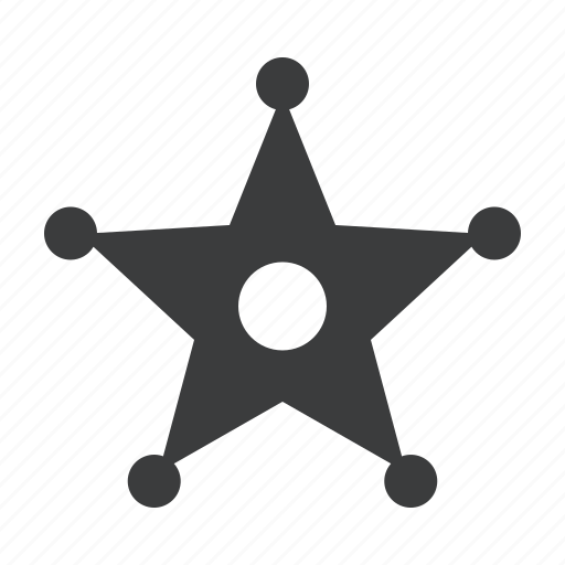 badge, honor, law, police, secuirty, sheriff, star icon
