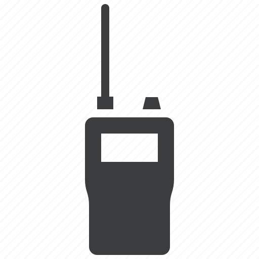 communication, crime, police, radio, set, talkie, walkie icon