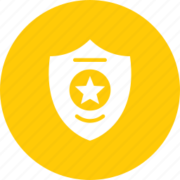 badge, court, honor, law, police, sheriff, star icon
