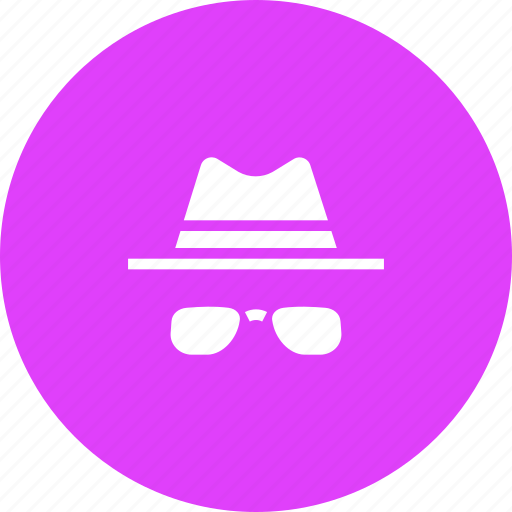 avatar, brim, detective, glasses, hat, specs icon