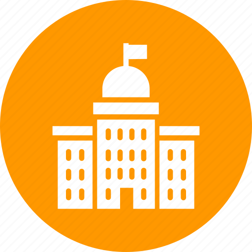 building, court, courthouse, government, institution, judicial, law icon