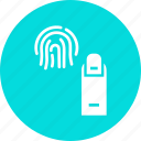 biometric, finger, fingerprint, id, scan, test icon