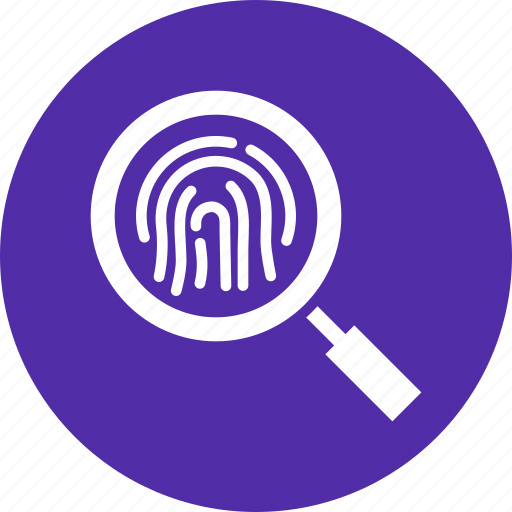 crime, detective, fingerprint, forensic, id, investigate, police icon