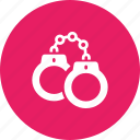 arrest, crime, handcuffs, jail, manacles, police, shackles icon