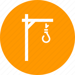 capital, death, hang, hangman, punishment, suicide, tree icon