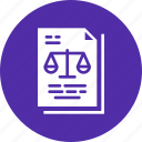 court, document, judgement, justice, law, legal, order icon