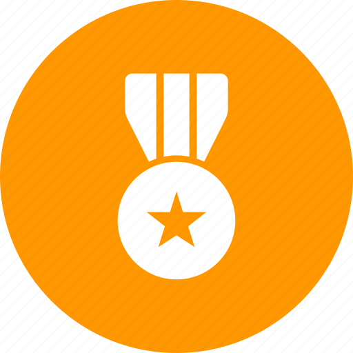 honor, law, medal, police, ribbon icon