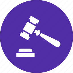 court, gavel, hammer, judge, law, mallet, order icon