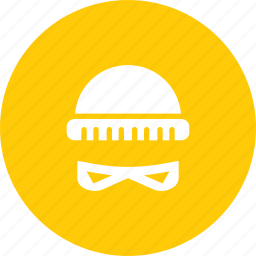 beanie, burglar, crime, disguise, hat, robber, thief icon