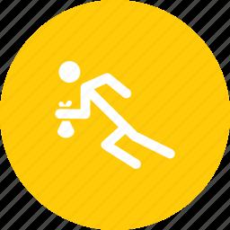burglar, escape, robber, robbery, run, thief icon