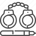 crime, criminal, handcuffs, law, prison, punishment icon