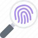 court, crime, criminal, fingerprints, law, police icon