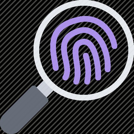 court, crime, criminal, fingerprints, law, police icon