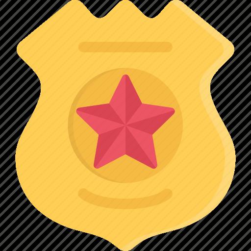 badge, court, crime, criminal, law, police icon