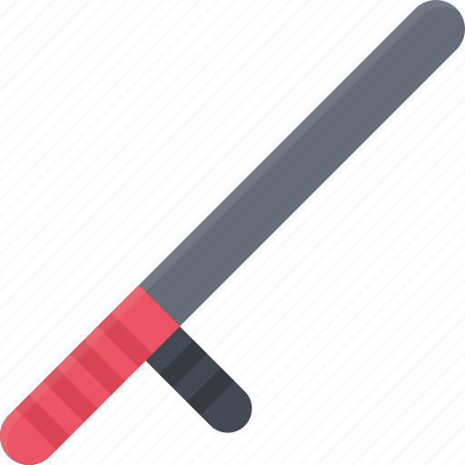 baton, court, crime, criminal, law, police icon