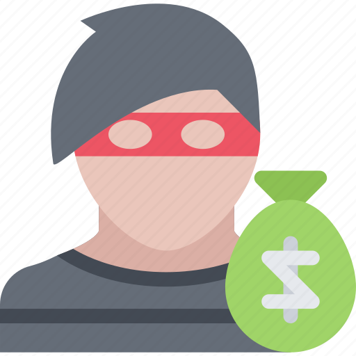 court, crime, criminal, law, police, robber icon