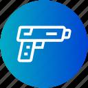 gun, handgun, justice, pistol, weapon icon