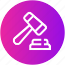 hammer, judge, justice, law, legal, order icon