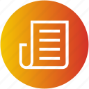 article, journal, law, magazine, media, newspaper icon