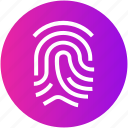 criminal, evidence, fingerprint, identification, thumb scan icon