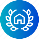 award, badge, house, justice, police icon