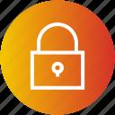 close, lock, padlock, security icon