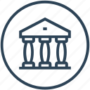building, court, courthouse, justice, trial icon
