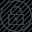 close, lock, padlock, security