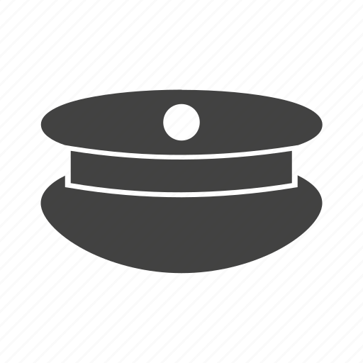 cap, hat, law, officer, police, security, uniform icon