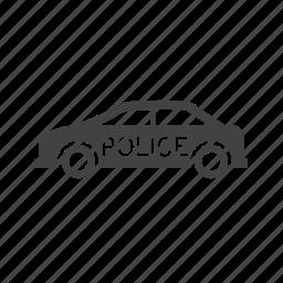 car, crash, highway, police, security, van, vehicle icon