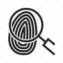finger, fingerprint, identity, print, thumb, thumbprint, unique icon
