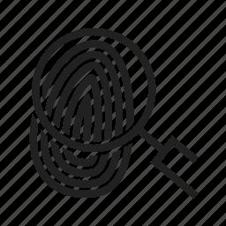 finger, fingerprint, identity, print, thumb, thumbprint, unique icon