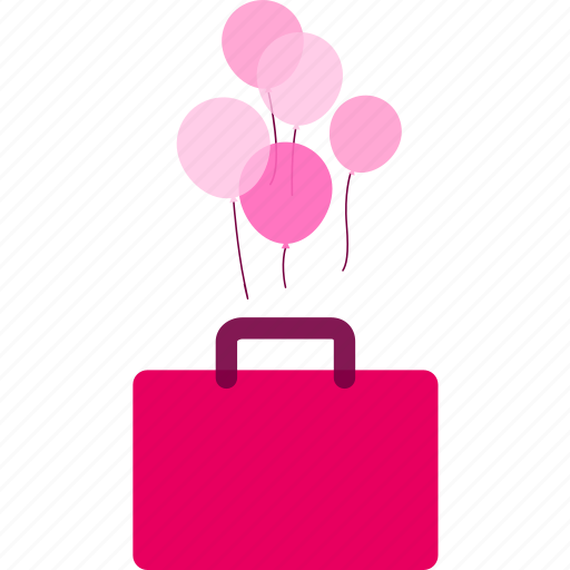 balloon, holiday, journey, travel, traveling bag, trip icon