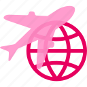air, airplane, journey, passport, travel, trip icon