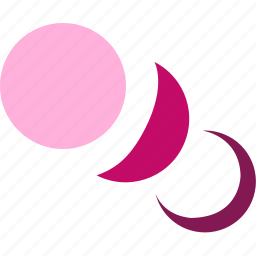 crescent, forecast, moon, night, weather icon