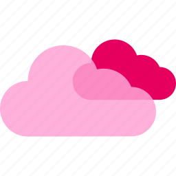 cloud, clouds, cloudy, forecast, temperature, weather icon