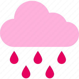 cloud, forecast, rain, raining, temperature, weather icon