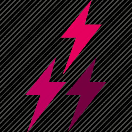 forecast, lightning, temperature, thunderbolt, weather icon