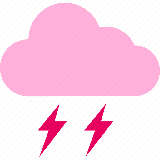 clouds, forecast, lightning, thunderbolt, weather icon