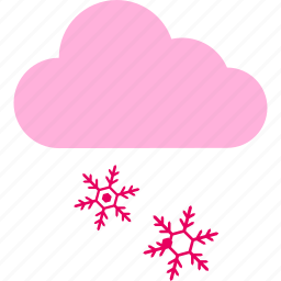 cloud, forecast, snow, weather, winter icon
