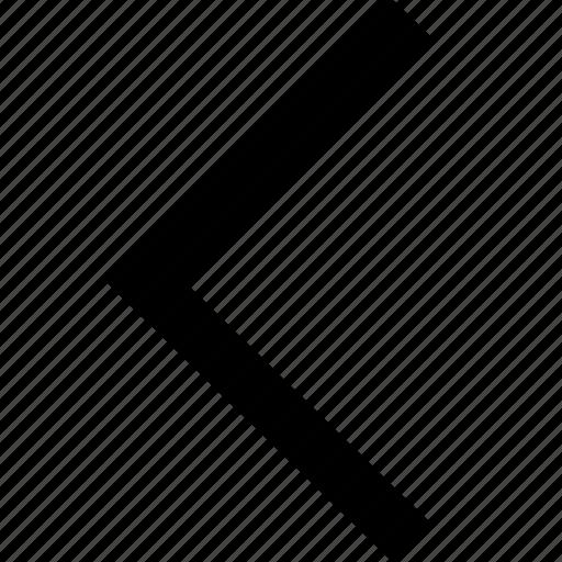 arrow, back, chevron, left, pointer, slider, west icon
