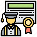 certificate, degree, diploma, education, graduate