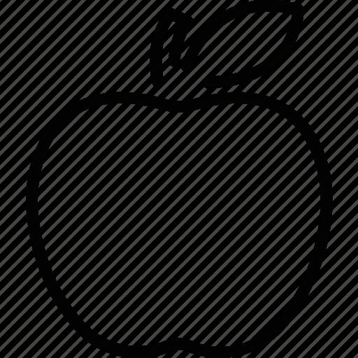 apple, food, fruit, uneversity icon