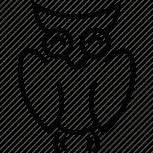 animal, bird, owl, uneversity icon