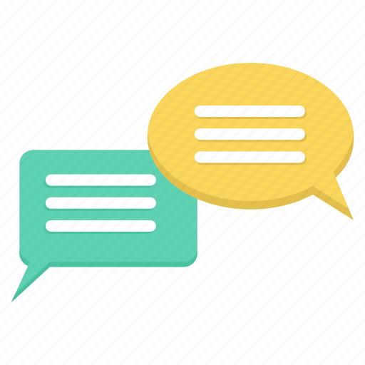 bubble, chat, conversation, feedback, mail, message, text icon