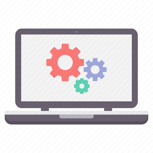computer, configuration, gear, laptop, options, setting, settings icon