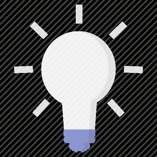 bulb, electric, energy, idea, lamp, light, power icon