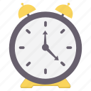 alarm, alert, bell, notification, ring, time, warning icon